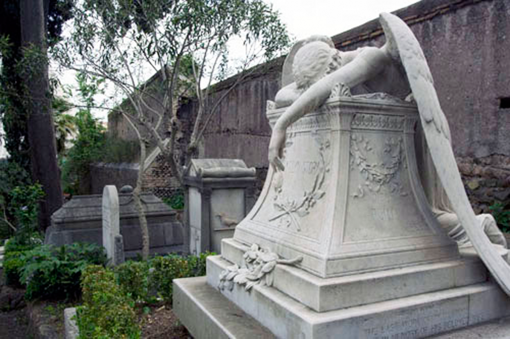 The Angel of Grief in Rome, Italy