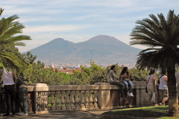 Vesuvius from the Heart of Napoli
