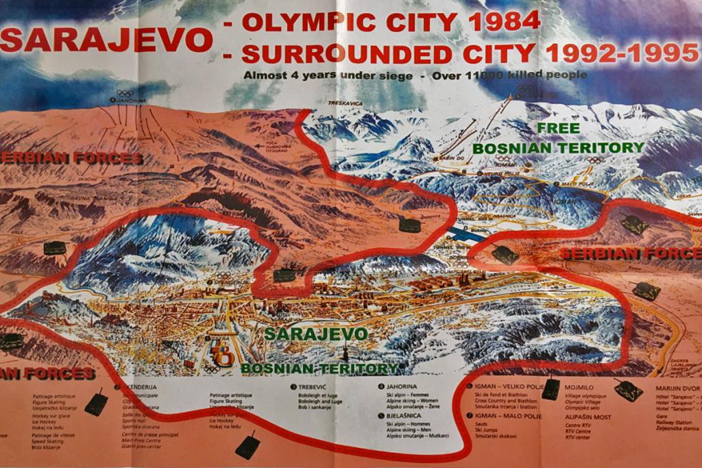Siege of Sarajevo - Map
